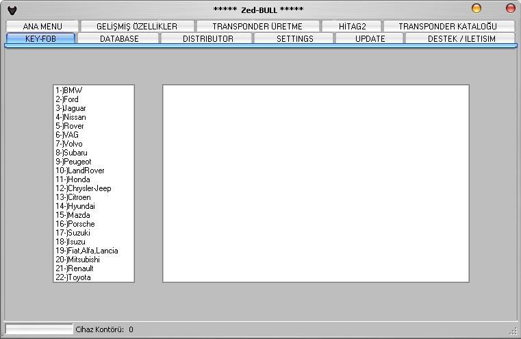 Программы для тюнинга (ключи / иммобилайзер), zed bull v506, рис. 5