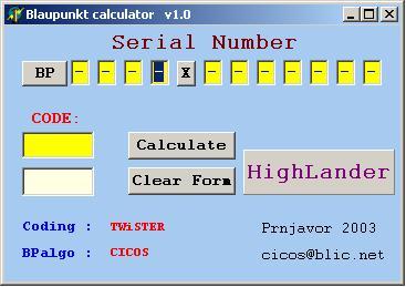калькулятор кодов разблокировки магнитол blaupunkt