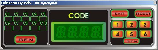 Программы для тюнинга (разблокировка кода радио), hyundai calculator h8xx v2