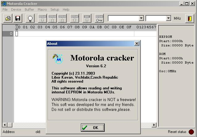 Программы для тюнинга (разблокировка кода радио), motorola cracker v62