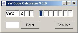 Программы для тюнинга (разблокировка кода радио), vw code calculator v10