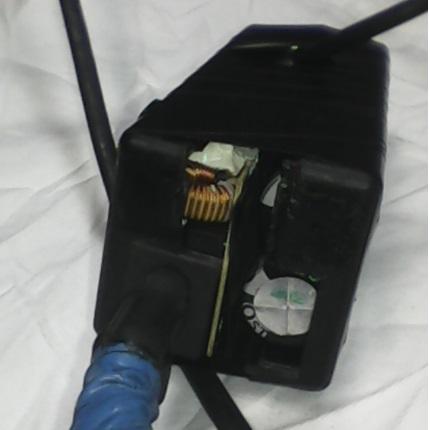 Проверка блока питания с переделанными конденсаторами.