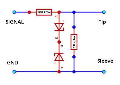 Делитель входного сигнала, микрофонный вход звуковой карты