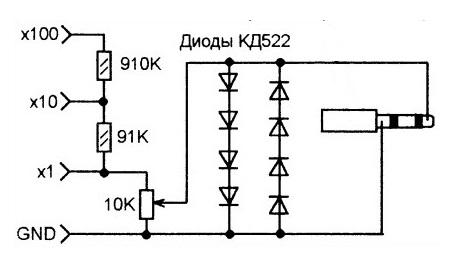 Усовершенствованный делитель входного сигнала, микрофонный вход звуковой карты
