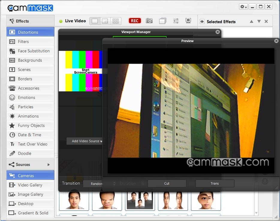 Софт на ПК для веб-камер и видеорегистраторов, программа : CamMask.