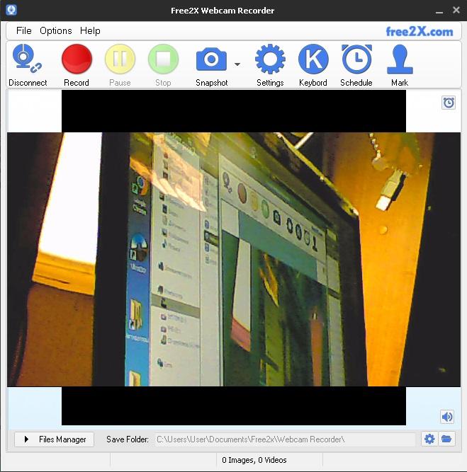 Софт на ПК для веб-камер и видеорегистраторов, программа : Free2x Webcam Recorder.