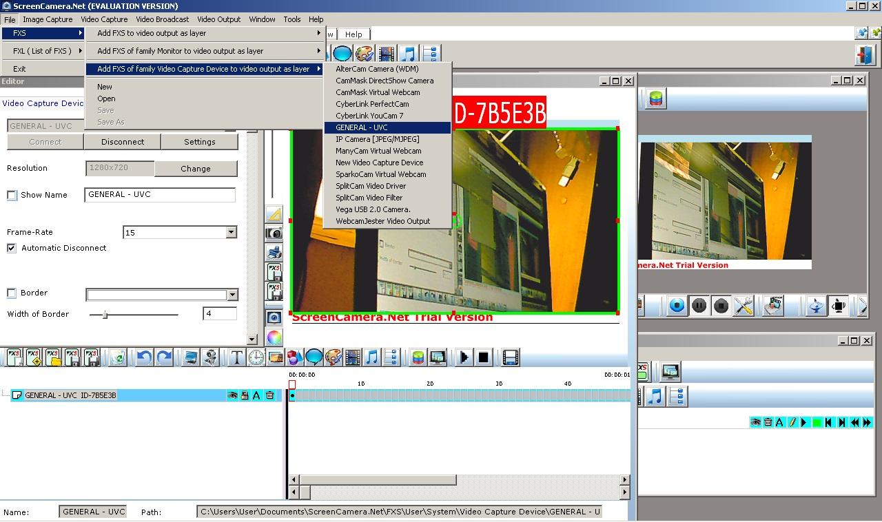 Софт на ПК для веб-камер и видеорегистраторов, программа : ScreenCamera.Net.