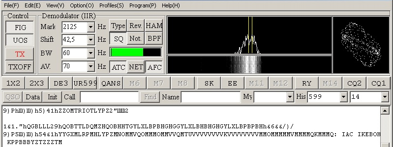 RTL-SDR, прием RTTY / MMTTY, DWD 2 Pinneberg - неправильные настройки