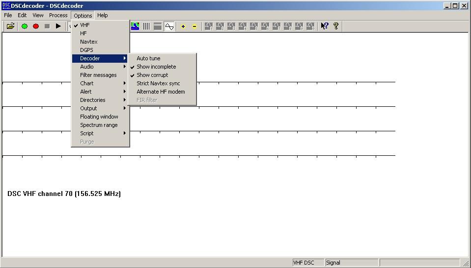 Программа DSCdecoder для декодирования DSC VHF / HF, Navtex, DGPS