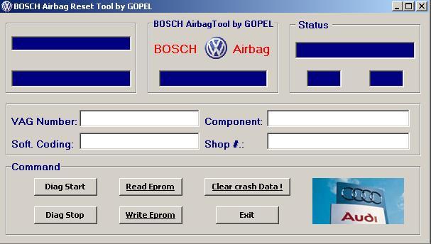 Программы для тюнинга (подушка AirBag), bosch airbag reset tool by gopel