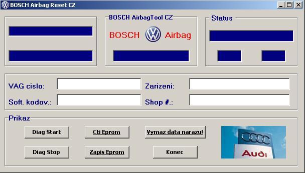Программы для тюнинга (подушка AirBag), bosch airbag reset tool cz