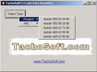 Программы для тюнинга (подушка AirBag), tachosoft airbag crash data resetter