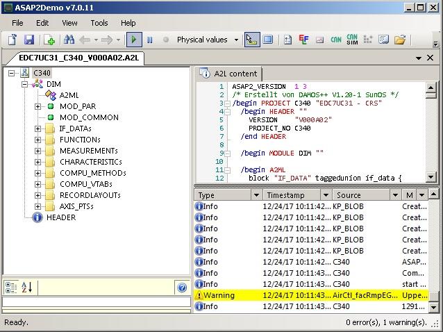 Программы для тюнинга (чип-тюнинг ЭБУ), ct-asap2demo-a2l-viewer