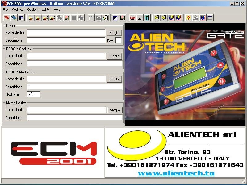 Программы для тюнинга (чип-тюнинг ЭБУ), ecm2001