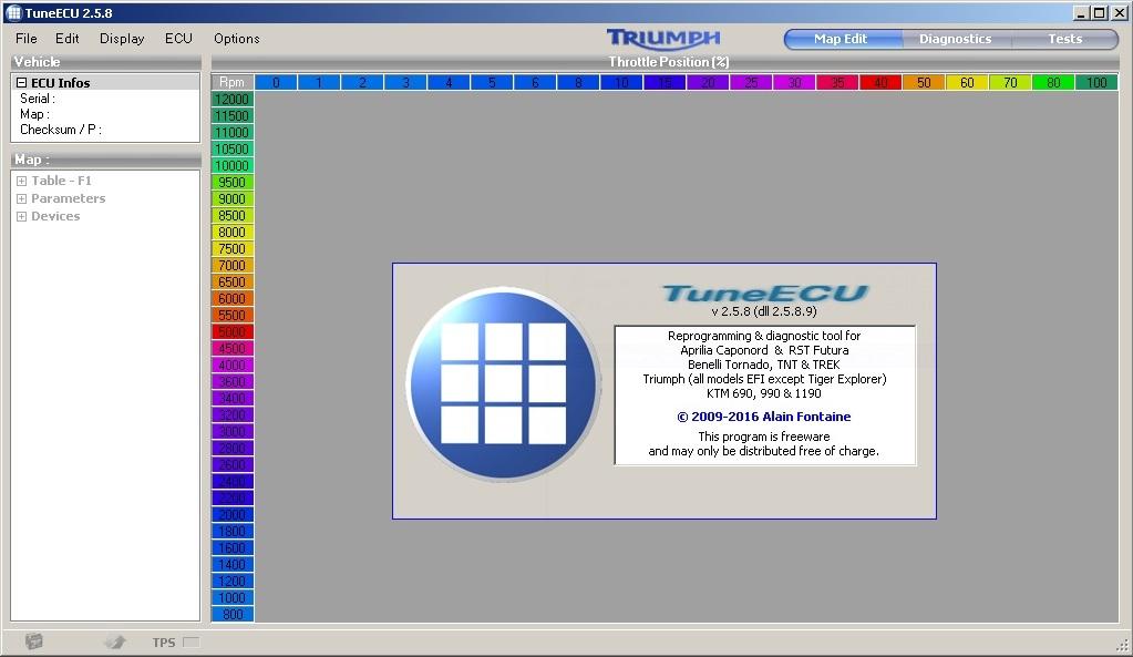 Программы для тюнинга (чип-тюнинг ЭБУ), tuneecu map
