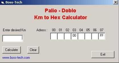 Программы для тюнинга (коррекция пробега панели), boss tech palio doblo km to hex calculator fiat