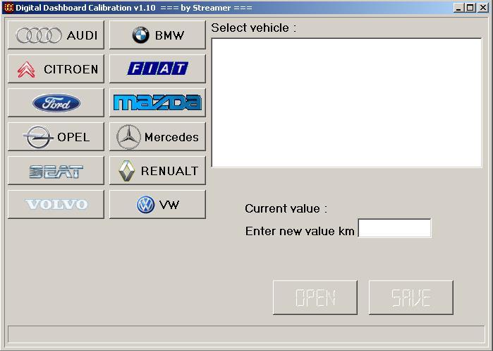 Программы для тюнинга (коррекция пробега панели), digital dashboard calibration v110