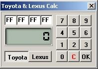 Программы для тюнинга (коррекция пробега панели), Toyota & Lexus Calc