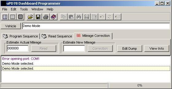 Программы для тюнинга (коррекция пробега панели), upd v780973 nec dash programmer, рис. 1