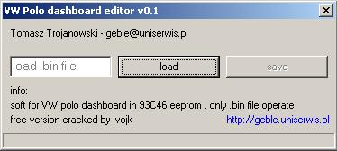 Программы для тюнинга (коррекция пробега панели), vw polo dashboard editor v01