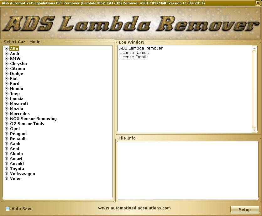 Программы для тюнинга (удаление кодов DTC), ADS Lambda Remover 2017