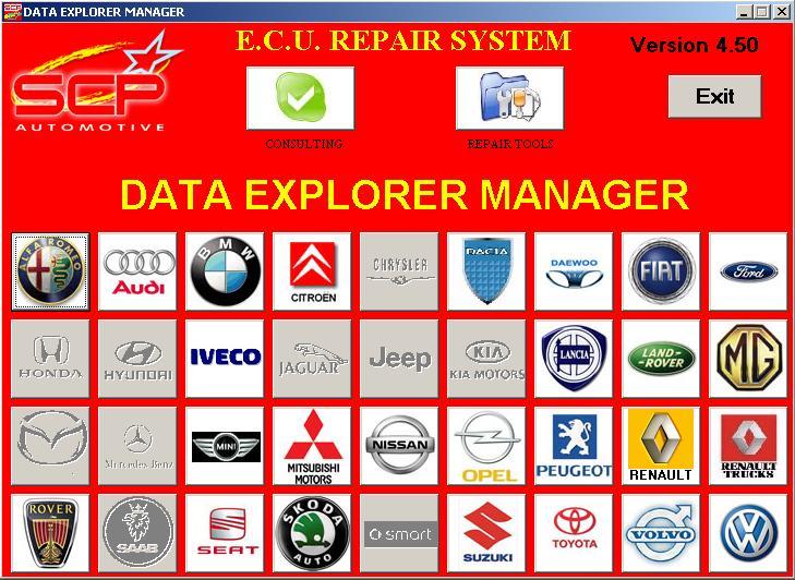 Программы для тюнинга (ремонт ЭБУ), scp automotive data explorer manager, рис. 3