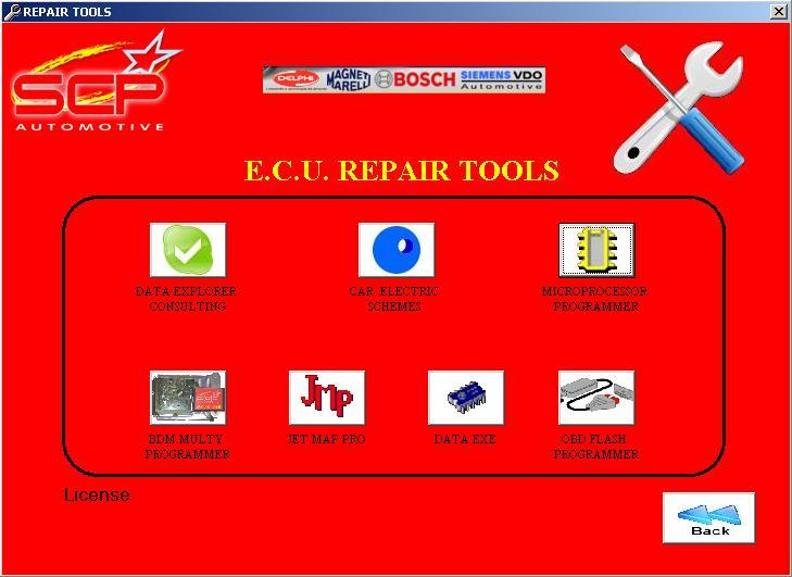 Программы для тюнинга (ремонт ЭБУ), scp automotive ecu repair tool