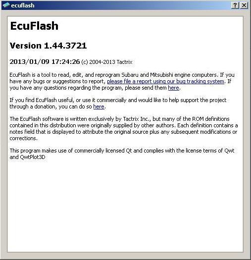 Программы для тюнинга (флэшер / лоадер), ecuflash v1443721, рис. 2