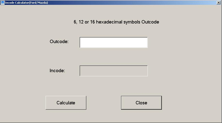 Программы для тюнинга (ключи / иммобилайзер), incode calculator ford mazda