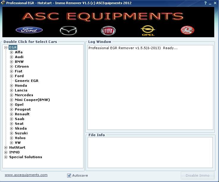 Программы для тюнинга (ключи / иммобилайзер), professional egr hotstart immo remover, рис. 1