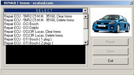 Программы для тюнинга (ключи / иммобилайзер), renault immo ecutools