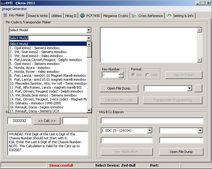 Программы для тюнинга (ключи / иммобилайзер), effi kms 2011, рис. 03