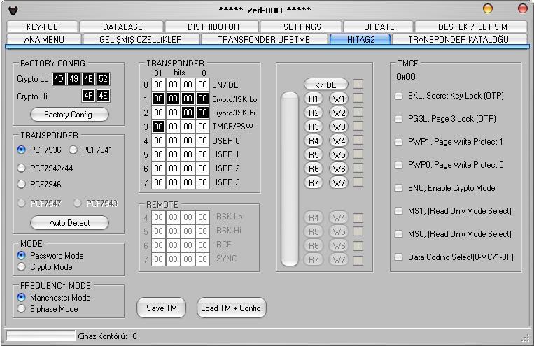 Программы для тюнинга (ключи / иммобилайзер), zed bull v506, рис. 3