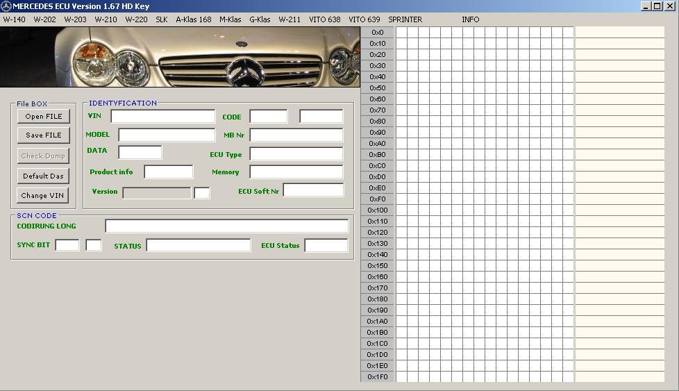 Программы для тюнинга (разные), mercedes benz ecu editor v167 hd key