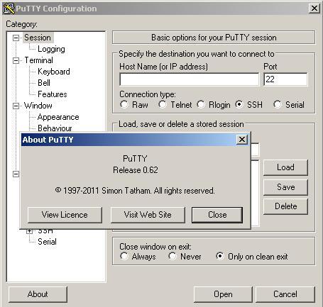 Программы для тюнинга (разные), putty at terminal com port