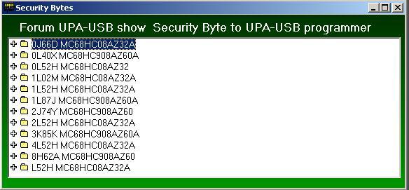 Программы для тюнинга (разные), upa usb security bytes