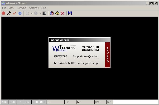 Программы для тюнинга (разные), wterm windows terminal rs232
