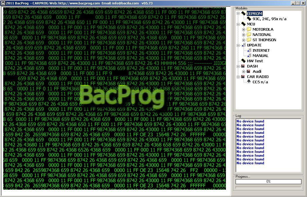 Программы для тюнинга (программаторы микросхем), bacprog carprog