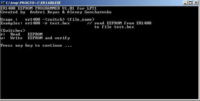 Программы для тюнинга (программаторы микросхем), er1400 eeprom programmer v101 for lpt1