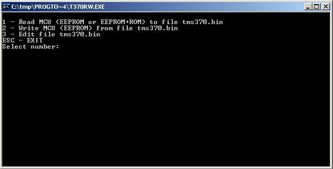 Программы для тюнинга (программаторы микросхем), tms370c756 eeprom programmer