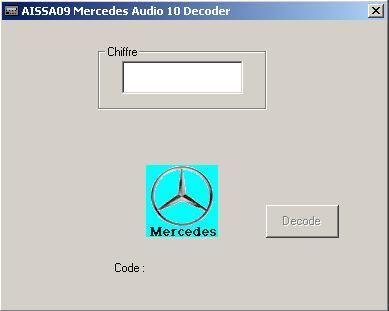 Программы для тюнинга (разблокировка кода радио), alpine mercedes audio 10 decoder aissa09