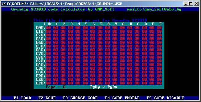 Программы для тюнинга (разблокировка кода радио), grundig sc303d code calculator