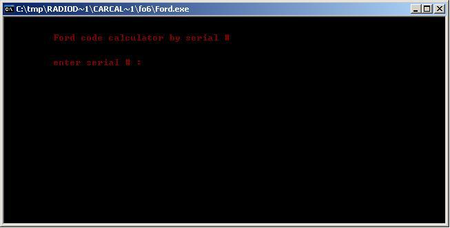 Программы для тюнинга (разблокировка кода радио), ford code calculator by serial