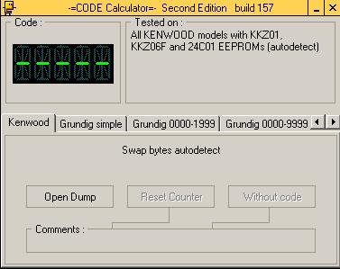 Программа для разблокировки кода радио Kenwood, code calculator se v221 b157