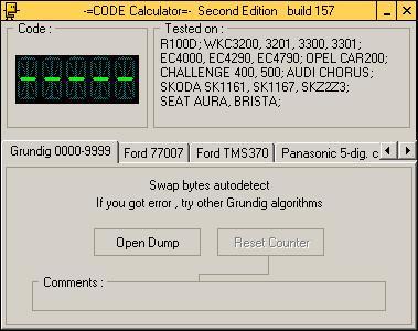 Программа для разблокировки кода радио Grundig 9999, code calculator se v221 b157
