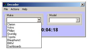 Программа для разблокировки кода радио, dragon electronics radio decoder win95 v11a, рис. 3