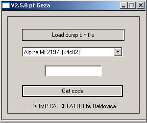Программа для разблокировки кода радио, v258 pt geza, рис. 1